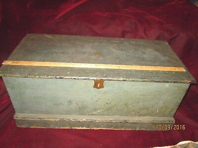 Antique Sea Chest -  Signed Richard Lincoln Cressy - Imbedded 1845 Penny
