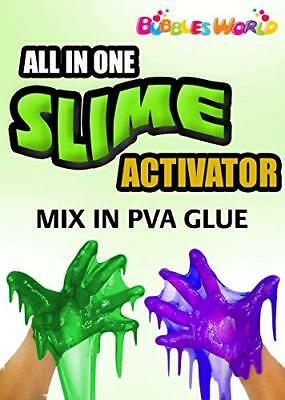 Bubbles World ALL IN ONE ! Slime Magical Liquid Slime Activator Solution - Just