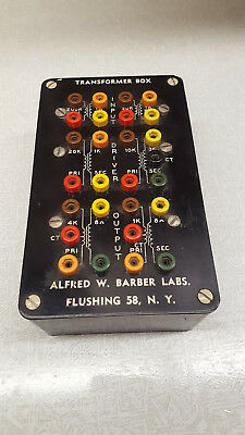 Vintage Transformer Substitution Box Audio Amplifier Barber Labs