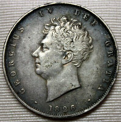 1826 GREAT BRITAIN Silver Half Crown * Nice and Original * FREE SHIPPING