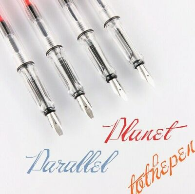 Parallel Calligraphy Fountain Pen Gothic Arabic Italic 0.7 1.1 1.9 2.5 2.9mm