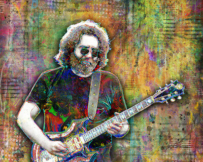 JERRY GARCIA Of The GRATEFUL DEAD 16x20in Tribute Poster The Dead Free Shipping