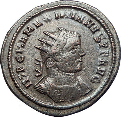 MAXIMIAN 292AD Authentic Silvered Ancient Roman Coin Zeus Jupiter i73624