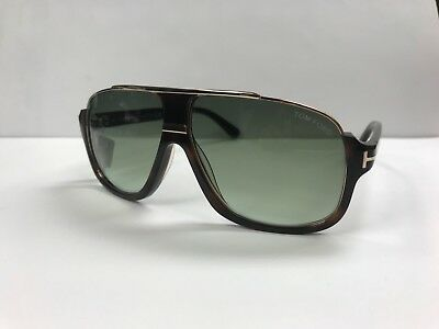 fce4e994d2 TOM FORD MEN Sunglasses TF 467 JUSTIN gold metal frame green ...