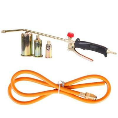 Propane Torch w/ 3 Nozzles Push Button Weed Burner Ice Snow Melter Fire Starter