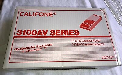 NEW Califone 3132AV Cassette Tape Recorder 3100AV Series 120V