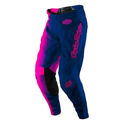 Troy Lee Designs Moto GP Air Pants 50/50 Flo Pink/Navy Youth All Sizes