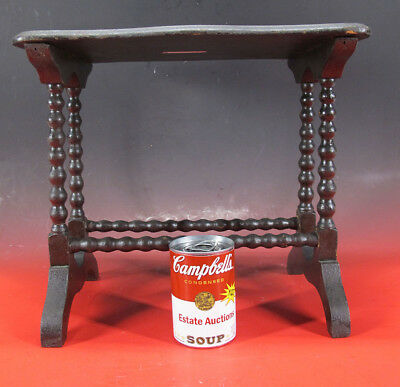 Antique Late 19th C Victorian Miniature Doll Wood Side Table Salesman Sample yqz