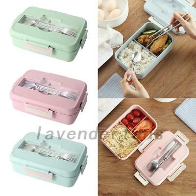 3 Compartments Lunch Box Bento Food Storage Container for Kids Adults Picnic