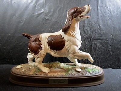 """Royal Doulton   """" THE SPANIEL """"   Figurine on Base   --   Absolutely Beautiful"""