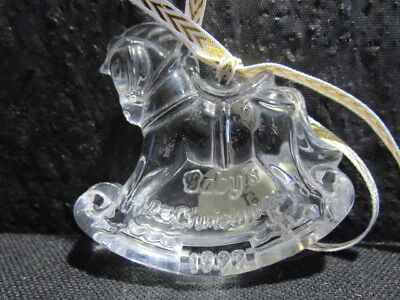 Waterford Crystal - Rocking Horse - Baby's 1st Christmas - Great Condition