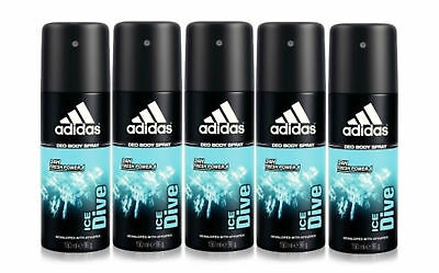 de4b601b49c2 Adidas Ice Dive for Men by Coty Deodorant Body Spray 5.0 oz - Pack of 5