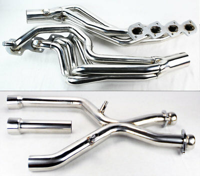 V2 Performance Long Tube Exhaust Headers & X Pipe For Ford Mustang 96-04 Cobra