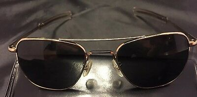 Vintage American Optical AO 5 1/2 Military Gold Tone Aviator Glasses with Case