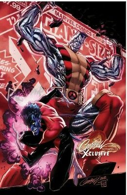 PREORDER J Scott Campbell Variant C Uncanny X-Men #1 Nightcrawler Colossus Cover