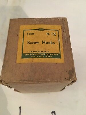 Lot Of 2 Boxes Vintage Box Of 144 Washburn Size 12 Screw Hooks Made I. The USA