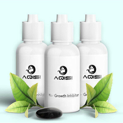3PCS AQISI - Unisex Herbal Permanent Hair Growth Inhibitor Hair Removal Cream