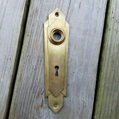 antique door knob backplate