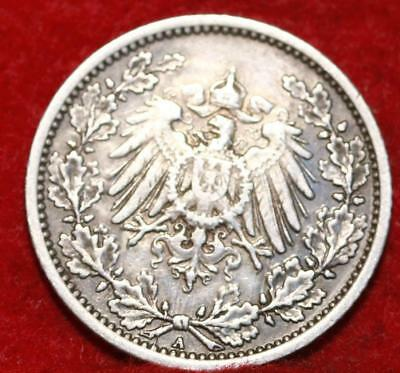 1918-A Germany 1/2 Mark Silver Foreign Coin