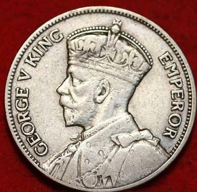 1934 New Zealand One Florin Silver Foreign Coin