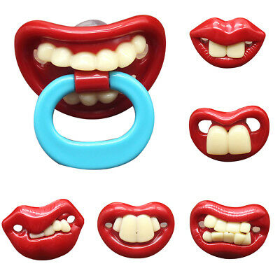Funny Baby Pacifier Dummy Nipple Teethers Toddler Pacy Orthodontic Tool Healthy