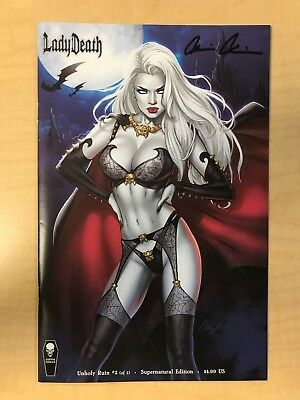 LADY DEATH Unholy Ruin #2 SUPERNATURAL Variant Cover by Elias Chatzoudis Signed