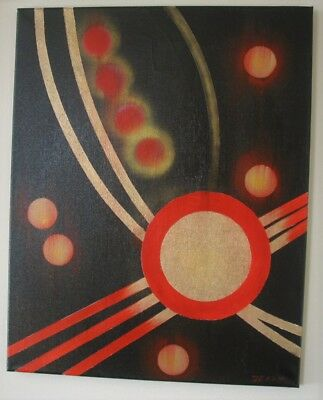 "Jerzyart painting original  "" Gold Lines "" abstract on canvas."