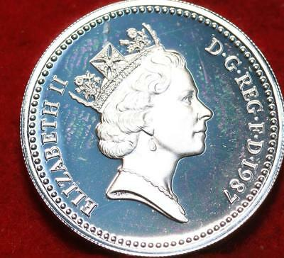 Uncirculated 1987 Great Britain 1 Pound Sterling Silver Proof Coin