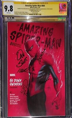 Amazing Spider-Man #800 Gabriel Dell'Otto 1:25 Variant CGC SS 9.8 Signed x's 5