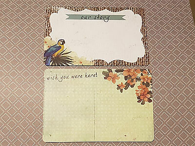 Large OUR STORY Note Journal Card Inserts for Personal Planner or photo project