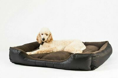 Premium Pet Bed Mat Deluxe Soft Dog Cat Basket Cushion Fleece Lining Washable