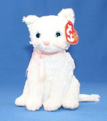 Ty Beanie Baby Babies ~ FANCY the WHITE CAT ~ Plush ~ 2003 ~ MWMTs ~ Retired