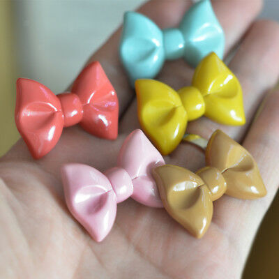 5pcs Craft DIY Decor Supplies Acrylic Bowknot Shape for Kids Girls Hair Bow