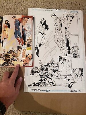 Tony Daniel/ Matt Banning Original published Art Superman Wonder Woman #3 pg17!