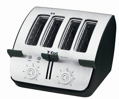 T-Fal Avante Deluxe 4-Slice Toaster with Removable Tray, Bagel Option TT750150