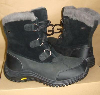 5e1f2e90b1a UGG OSTRANDER BLACK Waterproof Leather Snow Boots Size US 7, EU 38 NEW  #1008125