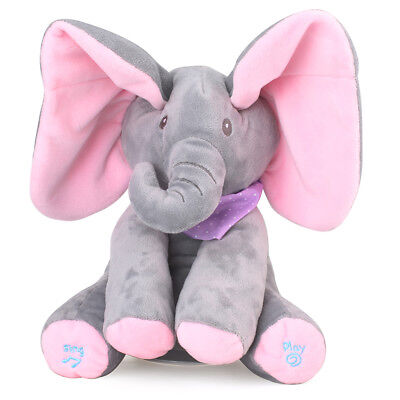 Baby's Elephant Peek-A-Boo Pal Animated Plush Toy with Music
