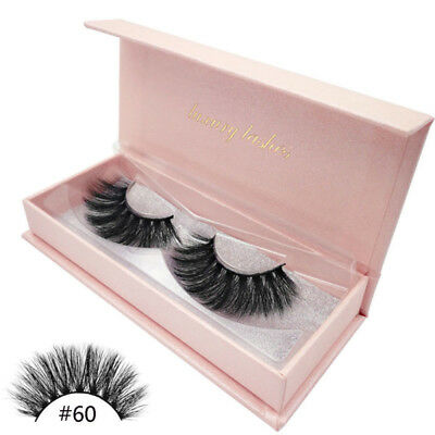 Top 3D 100% Luxury Mink Hair Long Thick Soft False Eyelashes Wispy Fluffy Style