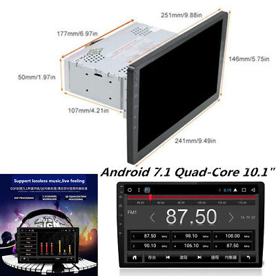 """10.1"""" Single 1 DIN HD Car Android 7.1 Stereo Radio No-DVD Player WIFI 3G/4G GPS"""