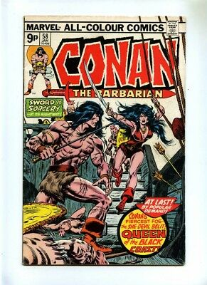 Conan the Barbarian #58 - Marvel 1976 - VG - Pence - 2nd Belit App