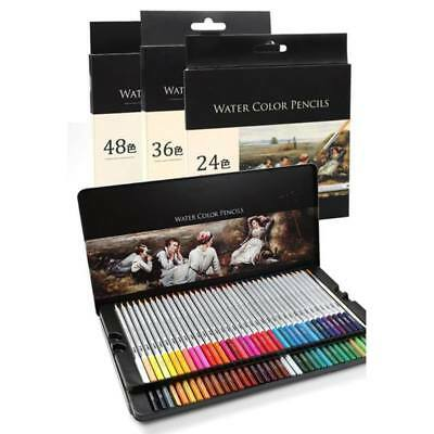 Chic Colorful Watercolor Pencils Wooden Water Soluble Colored Art Drawing Pencil