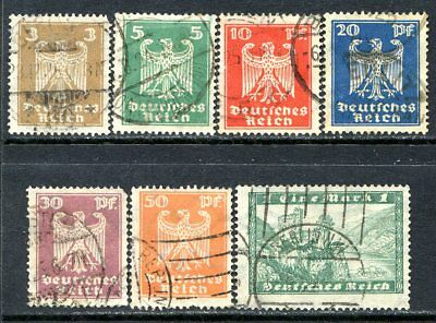 Germany Postage Stamps Scott 330-337, 7-Stamp Used Selection!! G1900