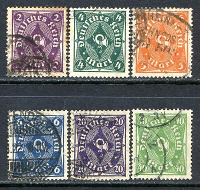 Germany Postage Stamps Scott 185-193, 6-Stamp Used Partial Set!! G1896