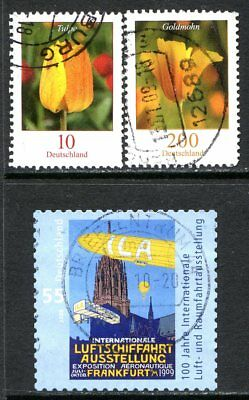 Germany Postage Stamps Scott 2308-2533, 3-Stamp Used selection!! G1838