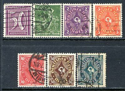 Germany Postage Stamps Scott 167-184, 7-Stamp Used Partial Set!! G1895