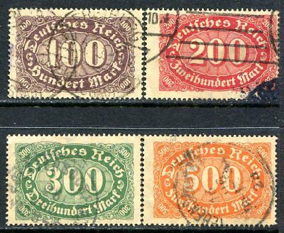 Germany Postage Stamps Scott 156-160, 4-Stamp Used Partial Set!! G1894