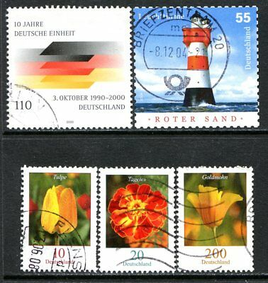 Germany Postage Stamps Scott 2102-2416, 5-Stamp Used selection!! G1835