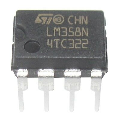 1X(20 Pieces LM358 LM358N LM358P Dual Operational Amplifiers Op-Amp DIP8 V3O3)