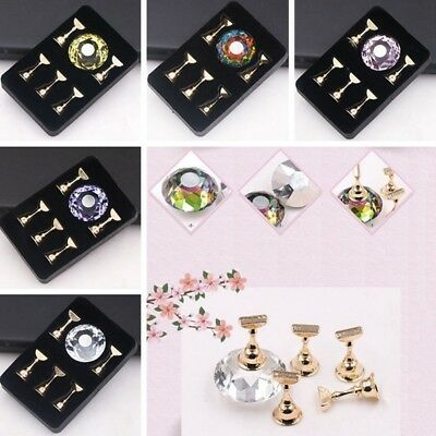 Nail Art False Nail Display Stand Practice Display Tip Holder Magnetic Manicure
