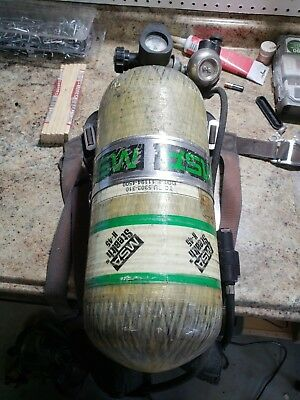 Used MSA Firehawk SCBA Air Tank, Mask, Amp, Harness, For Parts, Paintball
